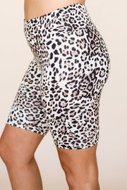 Light Cheetah Biker Shorts