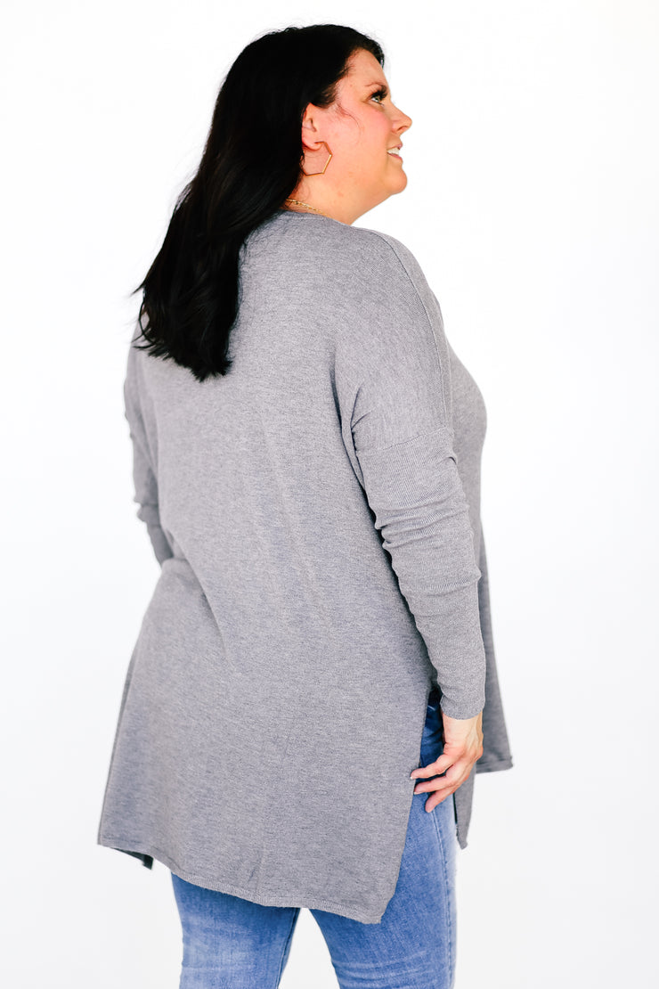 Butter Sweater™- Pocket Sweater - Charcoal