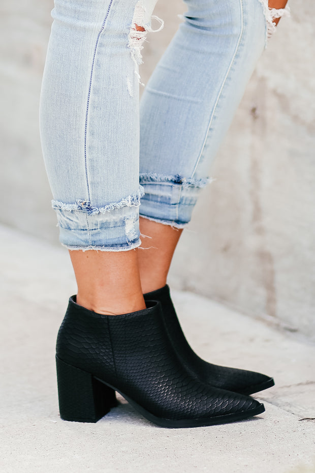 Edlin Booties - Black Snake