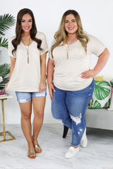 Rebecca: The Label - Emily Top - Oatmeal