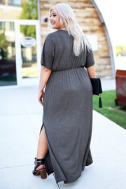 For Every Occasion Maxi Dress - Charcoal