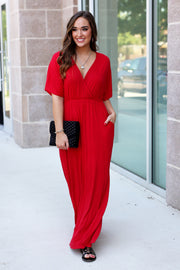 For Every Occasion Maxi Dress - Red