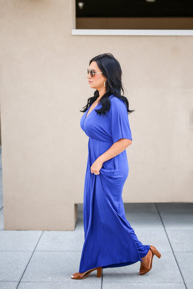 For Every Occasion Maxi Dress - Royal