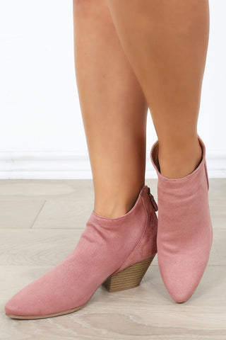 Griffin Booties- Mauve