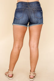 Kiki LaRue Denim: Hutsons Shorts - Dark Wash
