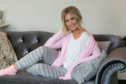 Plush Lounge by Kiki LaRue: Barbados Cardigan - Pink