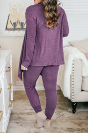 Plush Lounge by Kiki LaRue: Venice Joggers - Purple