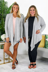 Lounge by Kiki LaRue: Barbados Cardigan - Heather Grey