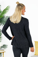 Lounge by Kiki LaRue: Barbados Cardigan - Black