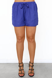 Bel-Air Drawstring Shorts - Blue