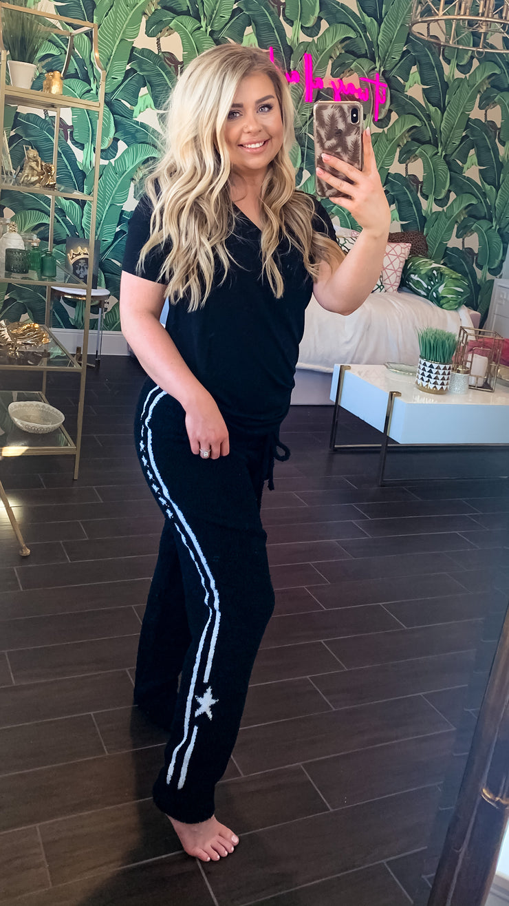 Chloe Squishy Sweatpants - Black