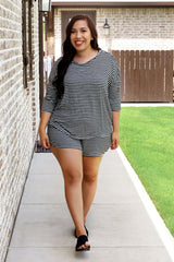 Lounge by Kiki LaRue: Dublin Top - Grey/Black