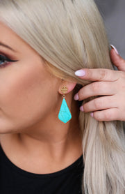Kiki LaRue Collection: Turquoise Drop Earrings
