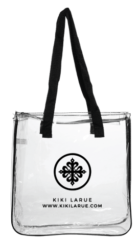 Kiki LaRue Logo Clear Tote Bag