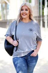 Kiki LaRue Logo Performance Tee - Grey