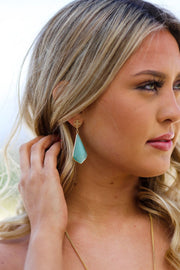 Kiki LaRue Collection: Genuine Mint Cateye Quartz Earrings
