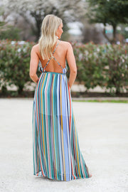 Markle Striped Maxi Dress