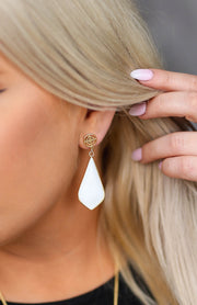Kiki LaRue Collection: Genuine Mother of Pearl Earrings