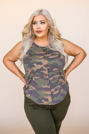 Kiki LaRue Merlin Camo Top