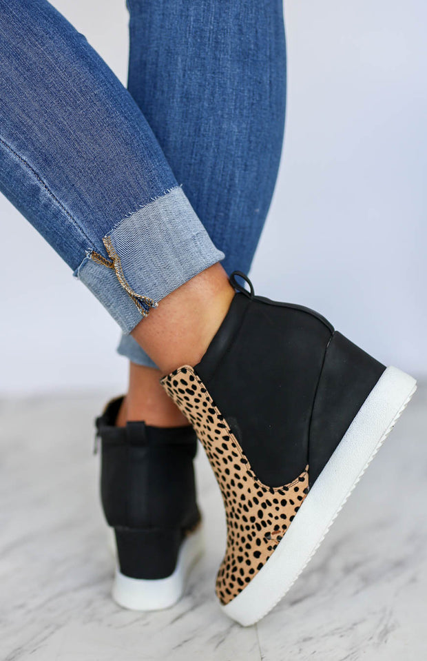 Kiki LaRue Murray Cheetah Wedge Sneakers