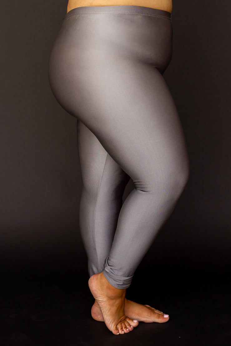 Kiki LaRue Plus Size Leggings - Silver