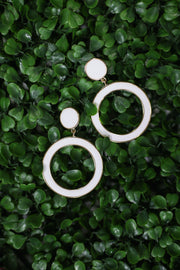 Kiki LaRue Rosemary Earrings - White