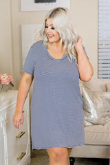 Lounge by Kiki LaRue: Santorini Dress - Navy/White