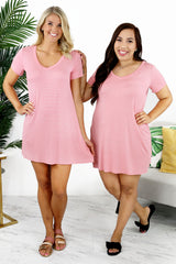 Lounge by Kiki LaRue: Santorini Dress - Pink/White