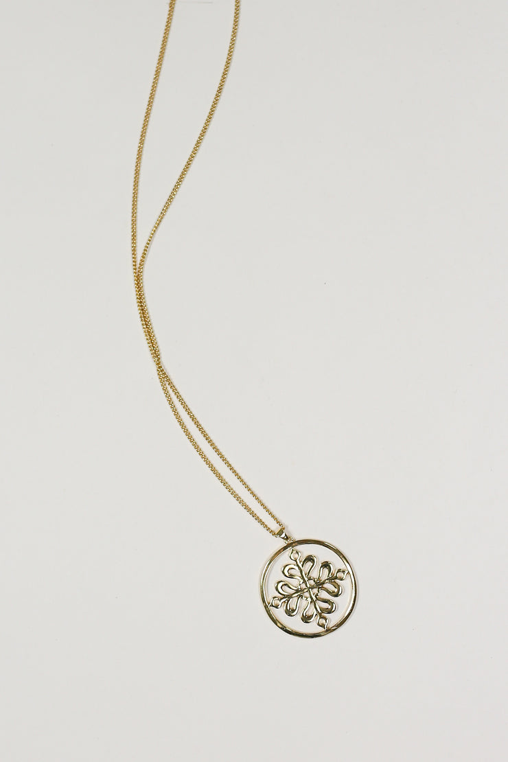 Kiki LaRue Collection: Signature Logo Necklace - Gold - 30""