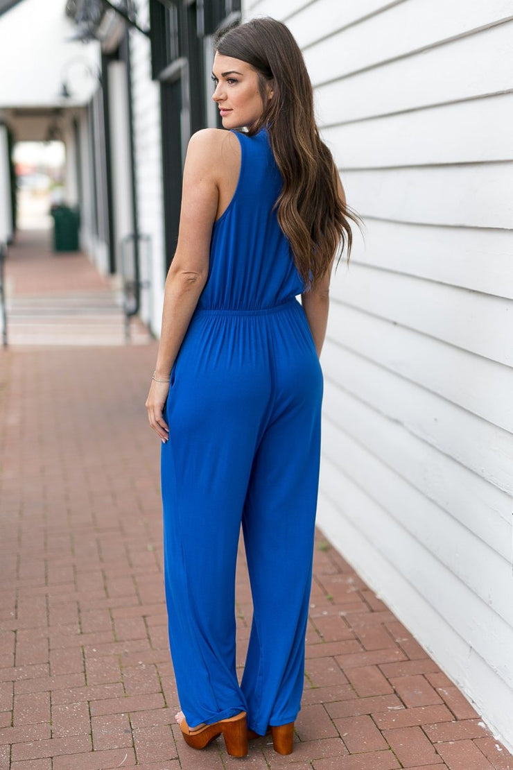 The Office Edit x Kiki LaRue: Sleeveless In Sarasota Jumpsuit - Blue