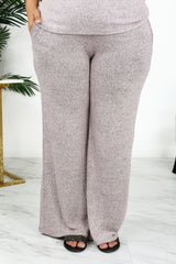 Lounge by Kiki LaRue: Tahiti Wide Leg Pants - Blush