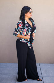 The Office Edit x Kiki LaRue: HBIC Blazer - Black/Peach