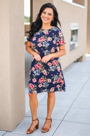 The Office Edit x Kiki LaRue: Woman In Charge Dress Navy