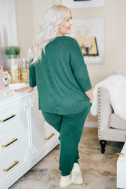 Plush Lounge by Kiki LaRue: Venice Joggers - Hunter Green
