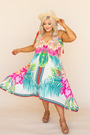 Kiki LaRue Vida Tropical Printed Spaghetti Strap Dress