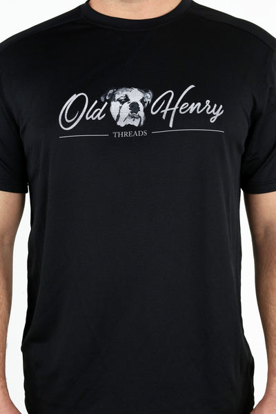 Old Henry Threads Logo Performance Tee - Black