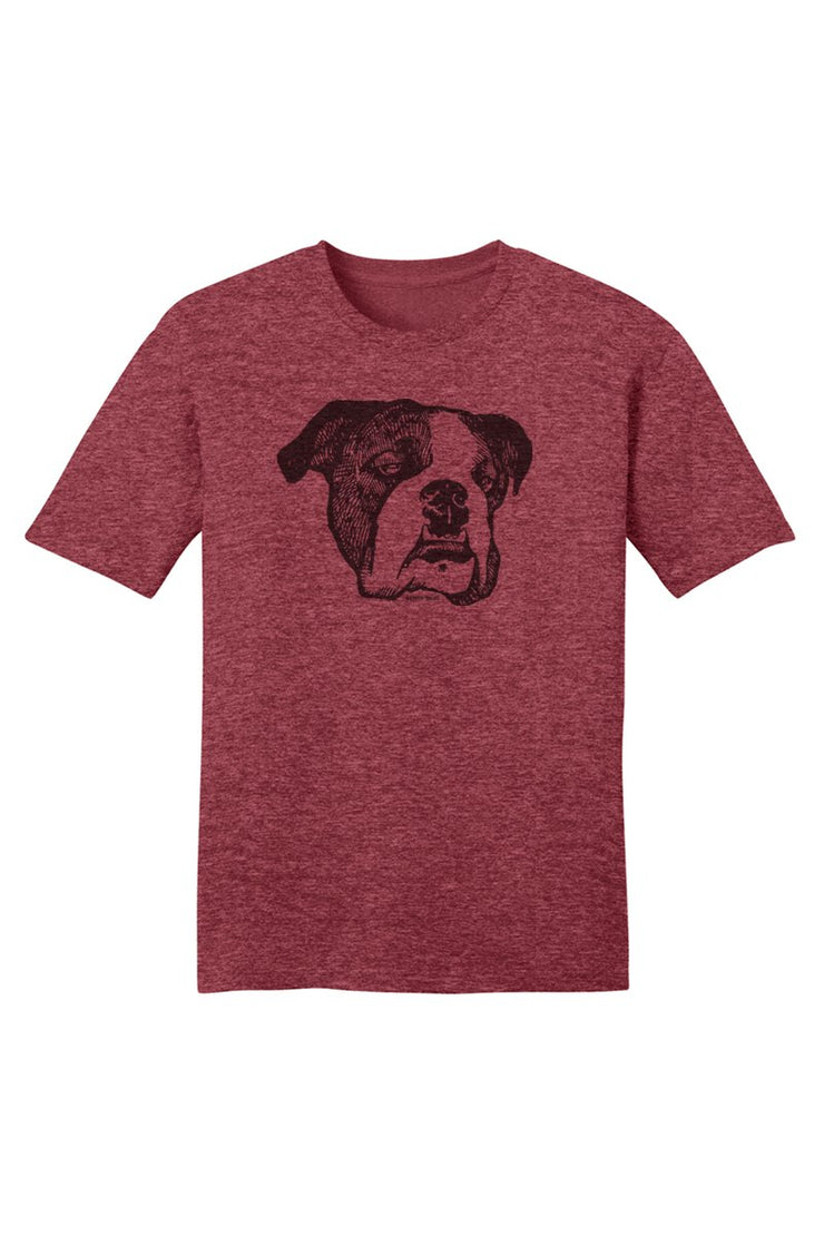 Old Henry Threads Old Henry Face T-Shirt - Heather Red