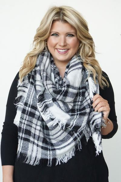 The Real Deal Zaza Blanket Scarf - White