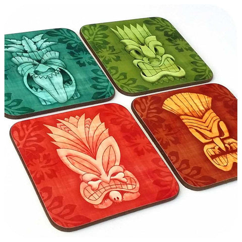 Tiki Mask Coaster - Choice of Colours