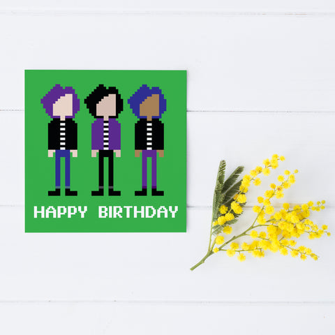 Pixel Party 'Emo Guys' Birthday Card