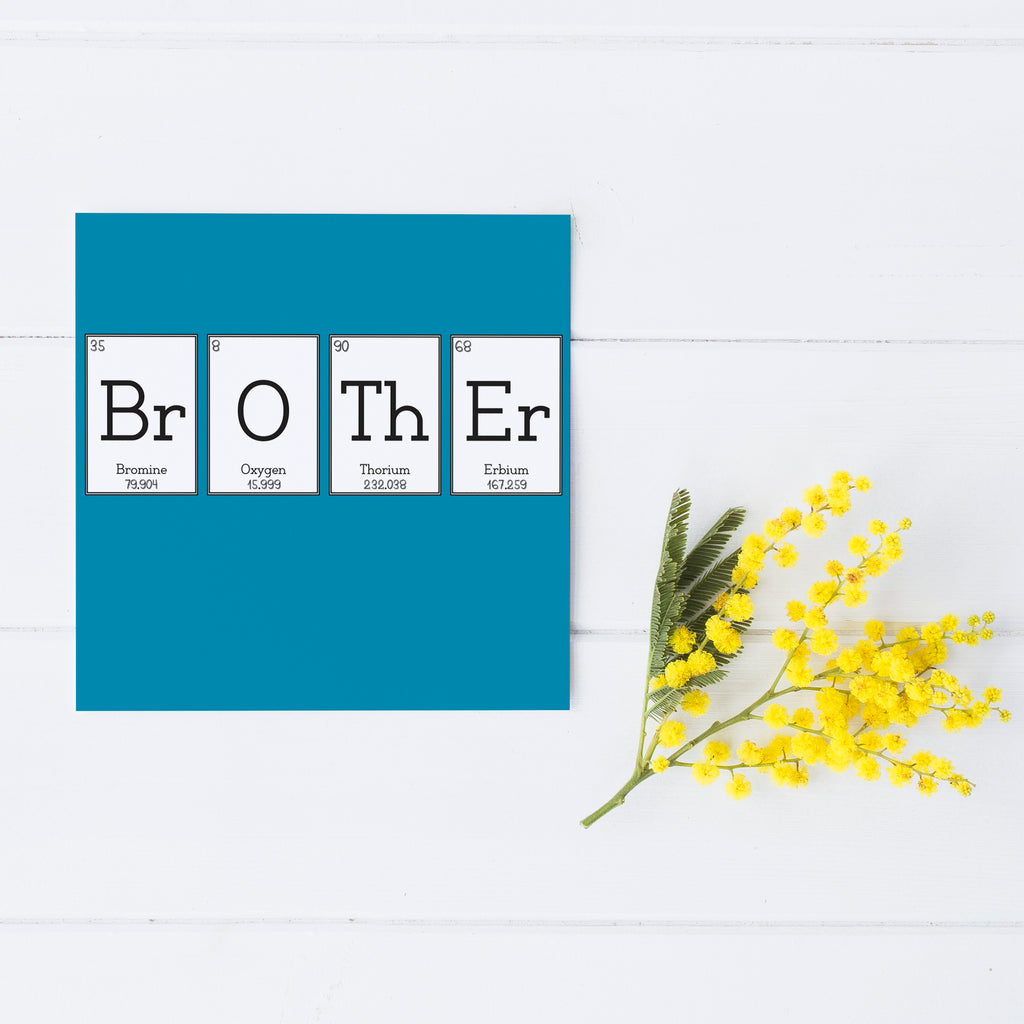 Blue 'Brother' Elemental Greeting Card