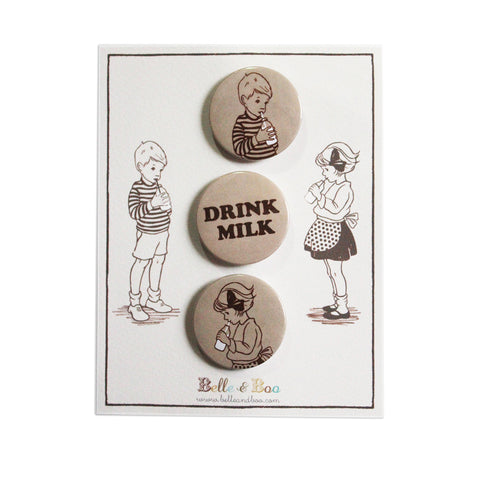 Drink Milk Badge Set