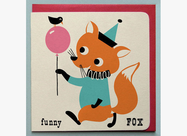 Funny Fox Greetings Card