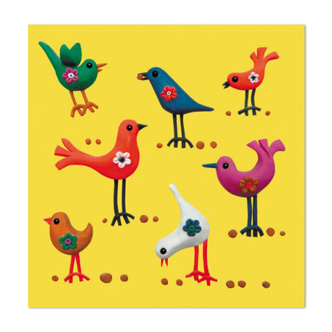 Super Cute Birdies Design 10cm Mini Card