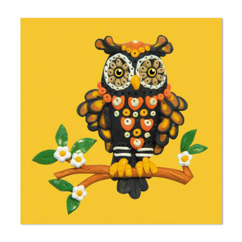 Super Cute Owl Design 10cm Mini Card