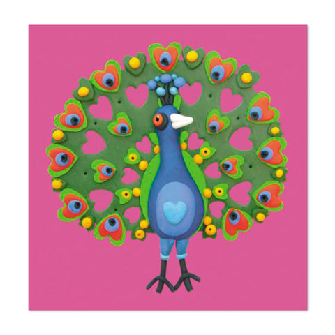 Super Cute Peacock Design 10cm Mini Card