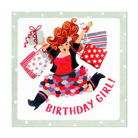 Gorgeous Glittery Birthday Girl Greeting Card