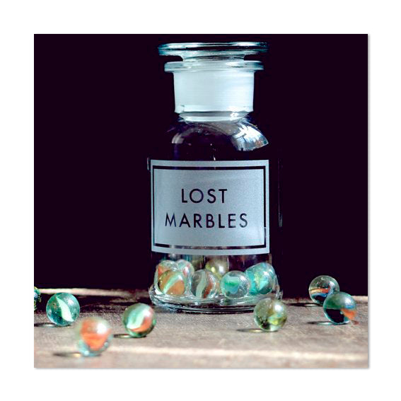 Witty Lost Marbles Greeting Card