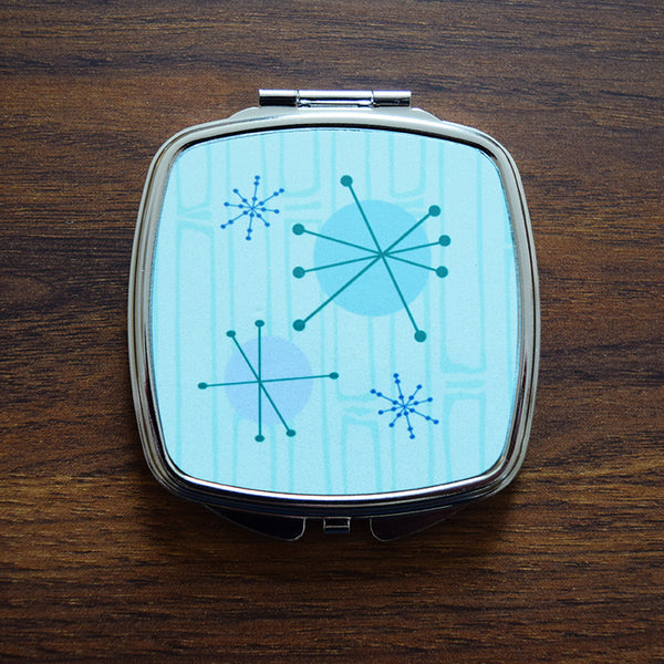 50s Era Atomic Starburst Compact Mirror
