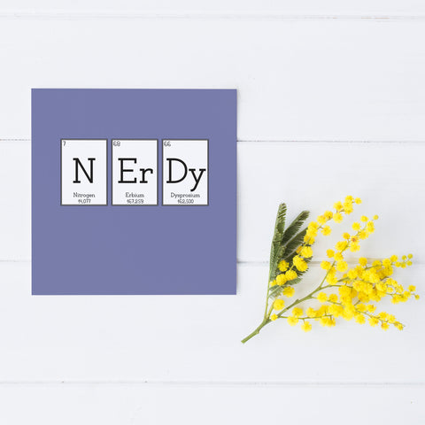 Lilac 'Nerdy' Elemental Greeting Card